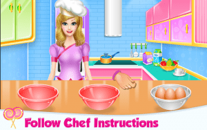 Lovely Rainbow Cake Cooking 9
