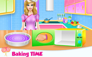 Lovely Rainbow Cake Cooking 4