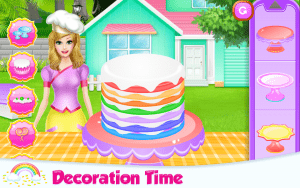 Lovely Rainbow Cake Cooking 5