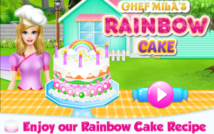 Lovely Rainbow Cake Cooking 7